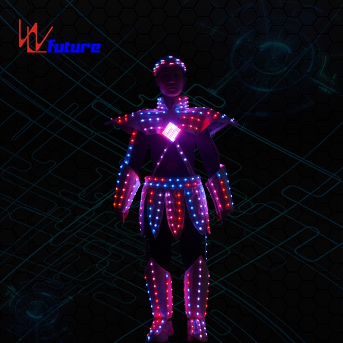 WL-0254 Wireless Control LED Future Warrior Robot Costume LED Dance Costume Myth figure Nezha Luminous Clothing