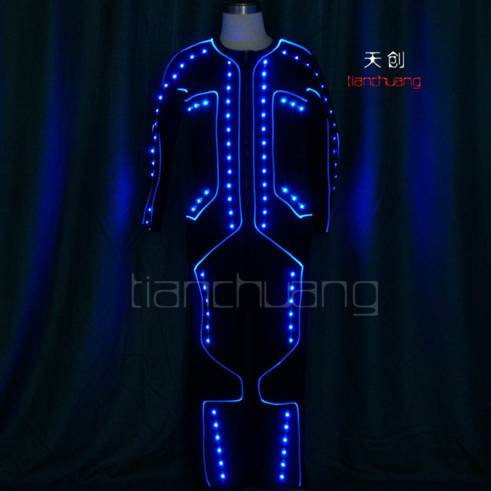 TC-0165 LED Light-up fiber Optic Jumpsuits