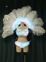 TC-0187 Victorias secret Full color LED bikini  performance costume