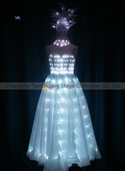 TC-0198 Full color LED dress performance costume