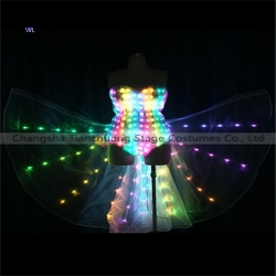 TC-0201 bikini full color led butterfly wing costumes