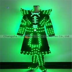 TC-0206 Full color LED dress performance costume