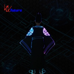 WL-0241 Fiber Optic & LED Chinese Traditional champion clothes + hat/shoe LED Dance Costumes LED Traditional Groom suit Performance wear