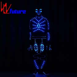 WL-0217 wireless control Fiber Optic & LED Costumes LED Robot Costume boys group uniform LED Tron Costume glow in the dark dresses