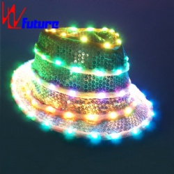 WL-028  wireless control LED Fashion Party hat for Halloween/Stage Performance LED Dance Costumes Props Blinking Hat