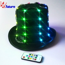 WL-0154 wireless control Blinking LED Hat for Stage Performance LED Dance Costumes Props Hat LED Dance Props performance wear