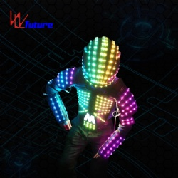 WL-0102 Wireless control Programmable LED Tron Costume  LED Vest with Helmet LED Robot Costume