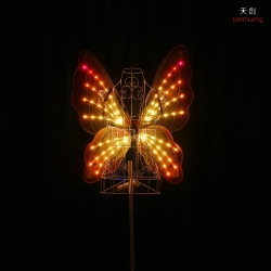 TC-0171-E full color led light up fiber optic butterfly wings
