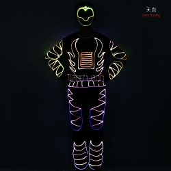 TC-092 full color optic fiber costumes