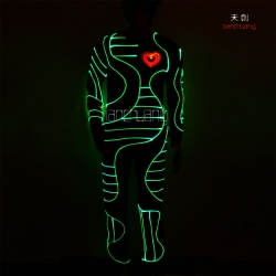 TC-068 full color optic fiber light costume