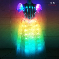 TC-041 LED & fiber optic dress